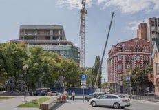 Budowa budynek na Bolshaya Sadovaya ulicie Zdjęcia Royalty Free