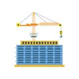 Budowa budynek odosobniona wektorowa ikona Obrazy Royalty Free