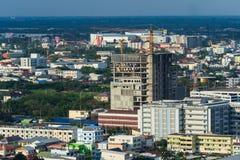 Budowa budynek w Nakhon Ratchasima mieście lub Korat, Tha Obraz Royalty Free