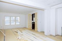 Budowa budynku przemysłu budowy budynku budowy tynku nowe domowe gipsowe ściany Obrazy Royalty Free