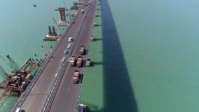 Budowa Crimea most na Kwietniu 26, 2018 zbiory wideo
