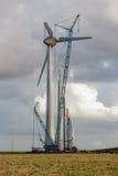 Budowa dla budować silniki wiatrowych w holandiach Obrazy Stock