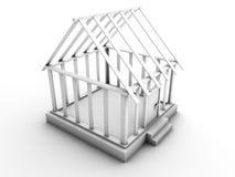 budowa dom Zdjęcia Royalty Free