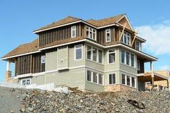 budowa domu do domu po naszej stronie Obrazy Stock