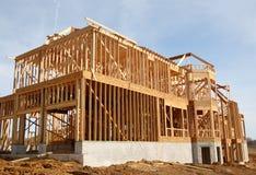 budowa domu garaż samochodowy zdjęcia royalty free