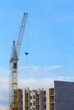 budowa domu żurawia nowe miejsce residental Fotografia Royalty Free