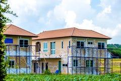 budowa domy Domy są na procesie constriction Zdjęcie Stock