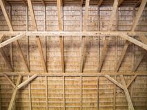 Budowa drewniany dach od desek zdjęcie royalty free