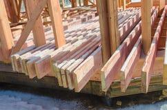 Budowa drewniany ramowy dom Fotografia Royalty Free