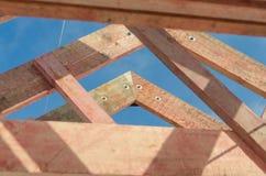 Budowa drewniany ramowy dom Obrazy Stock