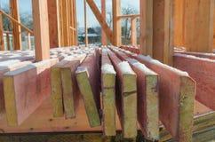 Budowa drewniany ramowy dom Fotografia Stock