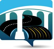 Budowa drogi logo ilustracji