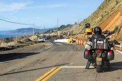 Budowa drogi na wybrzeżu Zdjęcia Stock