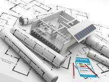 Budowa energia odnawialna chiny naprawdę nieruchomości Ilustracja Wektor