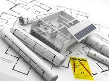 Budowa energia odnawialna Real Estate w Ameryka Ilustracja Wektor