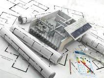 Budowa energia odnawialna Real Estate w Europa Royalty Ilustracja