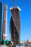Budowa Góruję centrum biznesu Moskwa miasto Zdjęcie Royalty Free