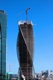Budowa Góruję centrum biznesu Moskwa miasto Zdjęcie Stock