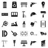 Budowa gromadzkie ikony ustawia, prosty styl ilustracja wektor