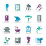 Budowa i domowe odświeżanie ikony Obraz Royalty Free