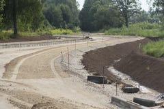 Budowa i naprawa autostrada Zdjęcia Stock