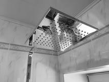 Budowa i naprawa - brać prysznić w łazience na chrom drymbie obrazy royalty free