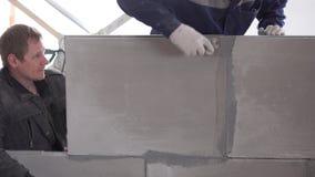 Budowa i naprawa - instalacja interroom rozdział od paza bloków zbiory wideo