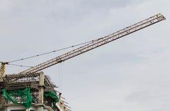 Budowa i żuraw Fotografia Royalty Free
