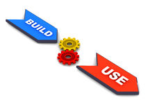 Budowa i use Zdjęcia Stock