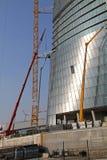 Budowa jard Hadid Tover przy Citylife; Mediolan Obrazy Stock