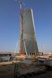 Budowa jard Hadid Tover przy Citylife; Mediolan Zdjęcie Royalty Free