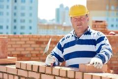 Budowa kamieniarza pracownika murarz fotografia royalty free
