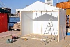 budowa kiosk Obraz Royalty Free