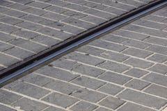Budowa kolejowi ślada, kolejowa frekwencja, Zdjęcie Royalty Free