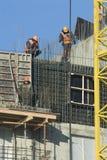budowa kontynuuje pomimo mrozowego Moscow Obrazy Royalty Free