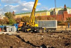 budowa Kremlin Moscow blisko Fotografia Stock