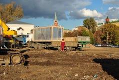 budowa Kremlin Moscow blisko Obrazy Stock