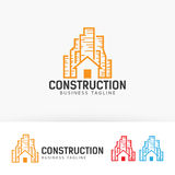 Budowa loga wektorowy projekt Fotografia Stock