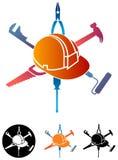 Budowa logo Zdjęcia Royalty Free