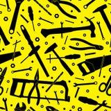 budowa młotek narzędzia okno tło bezszwowy wektora Obrazy Royalty Free
