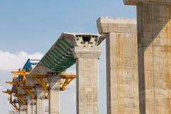 Budowa masowa sztachetowa przelotowa linia w toku Obrazy Stock
