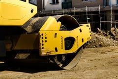 Budowa maszynowy drogowy rolownik obrazy stock