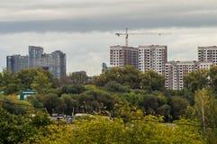 Budowa mieszkanie domy w Rosyjskim kapitale - Moskwa Zdjęcie Stock