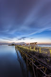 Budowa most nad morzem Obrazy Royalty Free