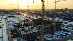 Budowa multistory budynek w mieście zbiory wideo