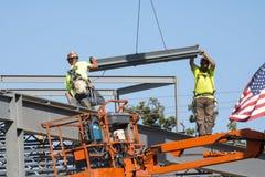 Budowa na Ciepłym dniu zdjęcie stock