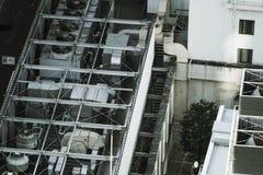 Budowa? na dachu plenerowa jednostka obraz royalty free