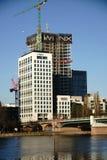 Budowa Nadrzeczny Pieniężny Gromadzki Frankfurt Fotografia Stock