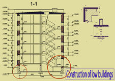 Budowa niscy budynki Fotografia Stock