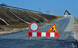 Budowa nowa droga Zdjęcie Royalty Free